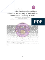 Deconstructing Barriers to Access Higher Education