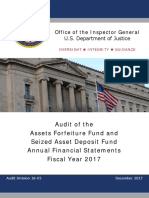 U.S. Department of Justice Assets Forfeiture Fund and Seized Asset Deposit Fund Management's Discussion and Analysis (Unaudited) 2017
