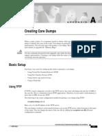 Cisco Creating Core Dumps