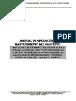 Manual de Operacion y Mantenimiento de Agua y Alcantarillado