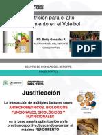 Nutricion Para El Alto Rendimiento en El Voleibol