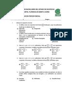 Examen de Recuperacion de Matematicas i Tercer Parcial