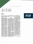 La Fatiga Del Rhin de Víctor Massuh