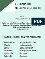 Taksonomi Kriptogami - Pertemuan 1 1 September 2010