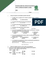 Examen Extraordinario Matematicas 1 Dos Tantos