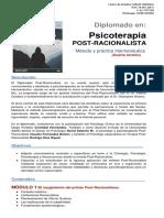 1 Programa oficial Diplomado Post-Racionalista 4° Versión. Región del BioBío