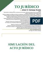 JOHAN CAMARGO ACOSTA - Simulación y Fraude del Acto Jurídico