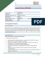 FINC504 - Course Outline
