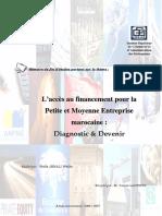 Accès Au Financement Pour La Petite Et Moyenne Entreprise Marocaine Diagnostic Et Devenir