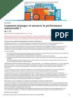 Comment Manager Et Mesurer La Performance Industrielle _ _ Techniques de l'Ingénieur