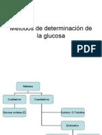 Métodos de determinación de la glucosa