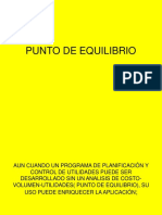 6ta. clase PUNTO DE EQUILIBRIO.ppt