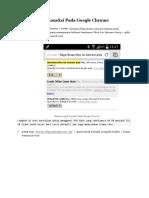 Mempercepat Koneksi Pada Google Chrome