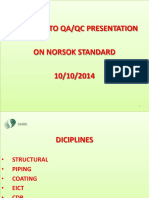 NORSOK QAQC Requirements