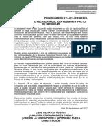 FRENTE AMPLIO RECHAZA INDULTO A FUJIMORI Y PACTO DE IMPUNIDAD