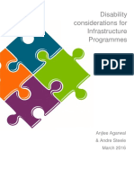 Disability Considerations for Infrastructure