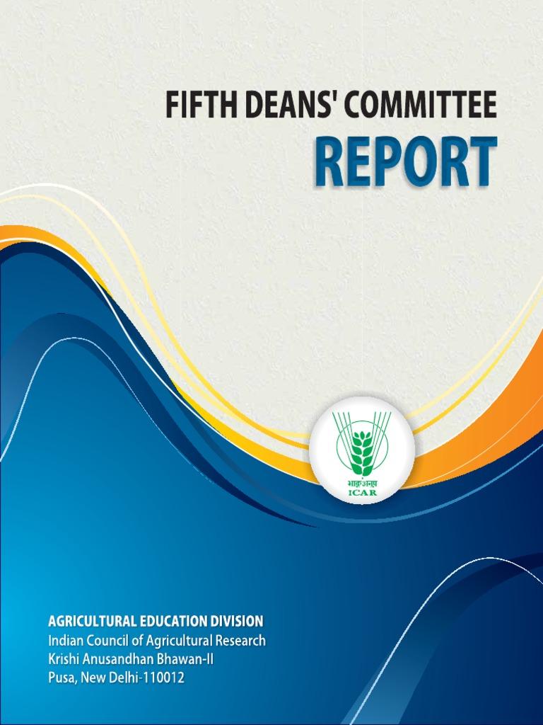 FifthDeansCommiteeReport-22022017.pdf | Agriculture | Curriculum