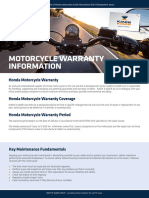 Honda Motorcycle Warranty