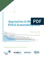 Sustainability Data Management