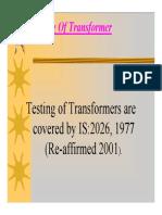 Transformer Testing Final