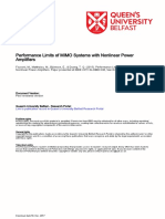 Performance Limits of MIMO Systems with Nonlinear Power Amplifiers