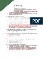 Ap26 Test Air Law