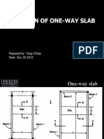 2 Design of One Way Slab