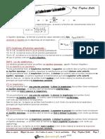Cours - Chimie - RESUME DU COUR LOI DE MODERATION +LOI D ACTION DE MASSE - Bac Sciences exp (2015-2016) Mr Daghsni Sahbi