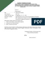 Surat Pernyataan Stap Sekret Pps