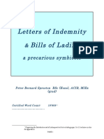 Bills of Lading and Letters of Indemnity