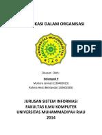Communication in Organization 2017