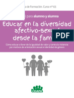 Educar en La Diversidad Afectivo Sexual Desde La Familia Manual Para Alumnado CEAPA