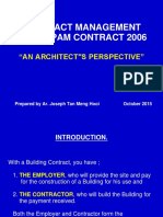 57 151202 1227452745 Contract Management Under Pam Contract 2006 an Architects Perspective by Ar Joseph Tan (1)