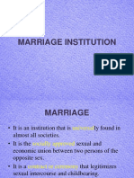 Chapter 12 - Marriage Institution