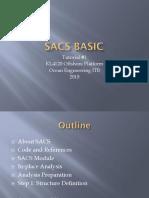 Tutorial 1 SACS
