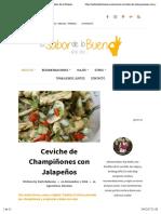 Ceviche de Champiñones con Jalapeños - El Sabor de lo Bueno