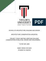 architecture conservation report  pdf
