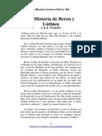 La Historia de Beren y Luthien