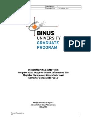 Pedoman Tesis S2 2015 1 1 Docx