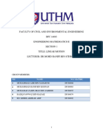 Report Project Mathematic ENGineering 2 UTHM