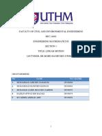 Report Project Mathematic ENGineering 2 UTHM