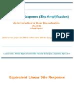 Seismic Site Response
