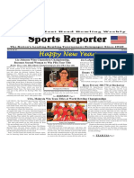 December 26 - 31, 2017  Sports Reporter