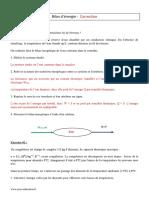 Correction Bilan Dénergie Terminale S Exercices Corrigés