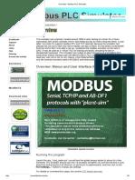 Overview - Modbus PLC Simulator