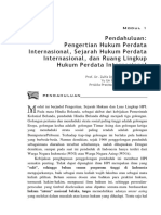 Modul Hukum Perdata Internasional