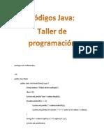 CódigosJavaTaller1