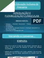 Palestra Adequação e Flexibilização Curricular