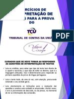1. Aula 01 - Interpretação de Texto Em Exercícios- PDF