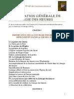 Presentation Generale de La Liturgie Des Heures